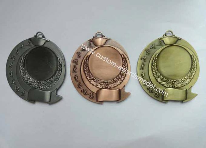 Zinc Alloy Antique Gold Plated 3D Die Cast Military, Sport, Awards Medals without Enamel