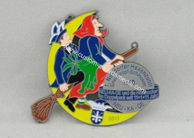 Neudorfer Hexenzunft Carnival Medal Soft Enamel , Antique Nickel Plating