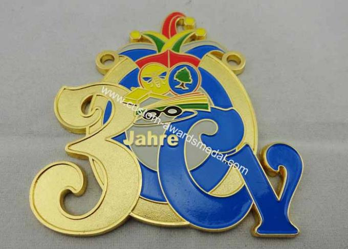 2D or 3D CY Carnival Medal by Zinc alloy with Soft Enamel, Gold Plating, Flat Back Side