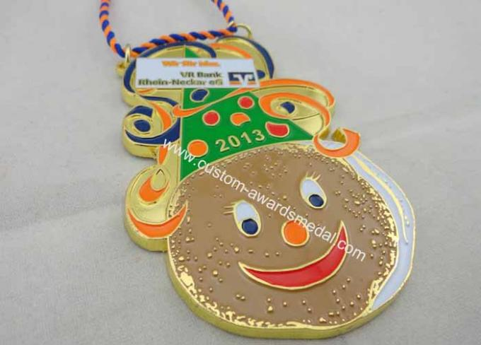 High Quality Rhein Neckar EG Soft Enamel Karneval Medal by Anti Copper, Ant Gold, Mat Gold, Mat Nickel