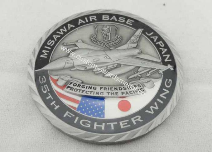 Brass / Zinc Alloy / Pewter Personalized Coins / Air Force Coin with Antique Nickel Plating