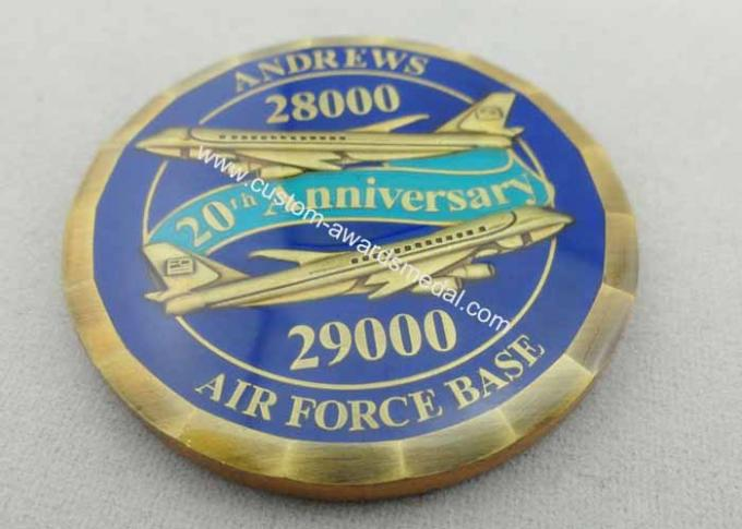 3D Metal Copper / Zinc Alloy / Pewter Personalized Air Force One Coin for Awards, with Laser Engraved