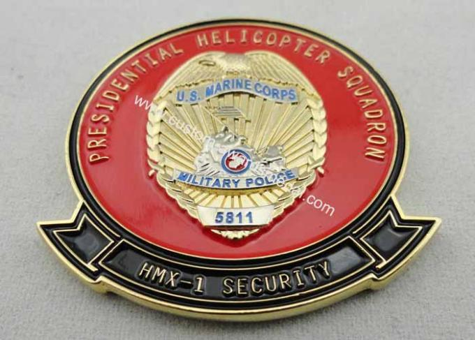 Two Tons Plating 3D Copper / Zinc Alloy / Pewter US Marine Corps Coin for Commemorative, Corps, Club