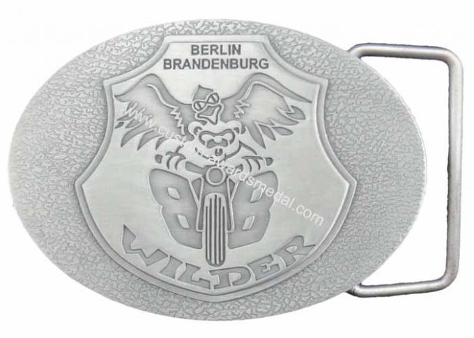 Personalized Pewter / Zinc Alloy Metal Berlin Brandenburg Belt Buckle without Enamel (OEM & ODM)