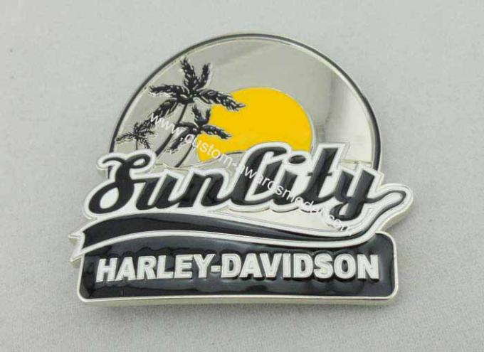 Harley Davidson Belt Custom Made Belt Buckles With Enamel For Decoration