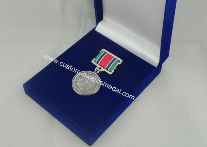 Zinc Alloy 3D Custom Medal Awards With Antique Silver Plating