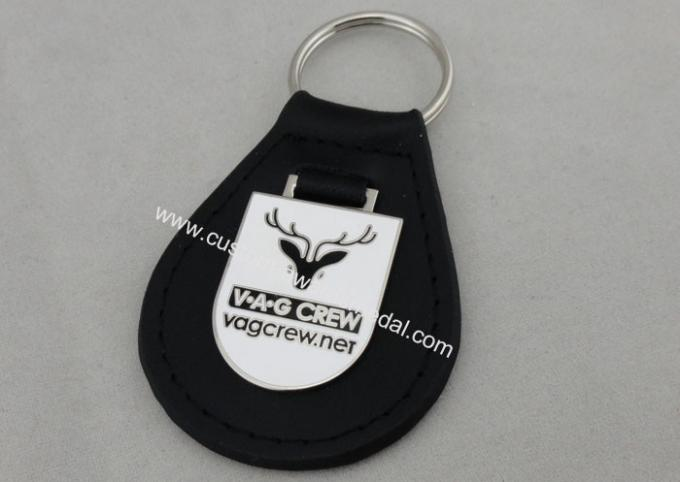 VAG Crew Leather Key Chain / Personalized Leather Keychains with Emblem