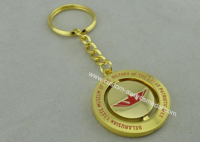 Great Patriotic War Spinning Promotional Keychain With Misty Gold L Plating