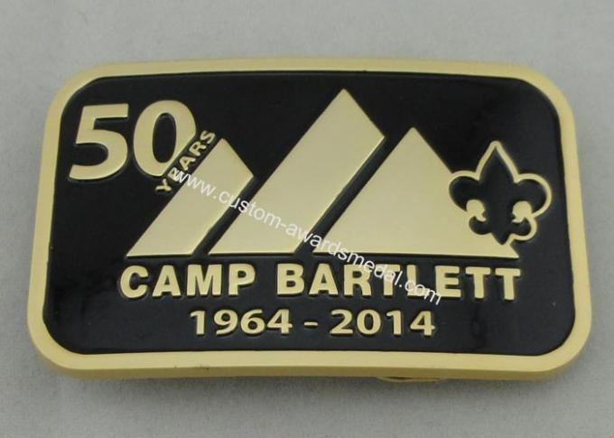 Camp Bartlett Custom Made Buckles Zinc Alloy  With Wiped Imitation Hard Enamel