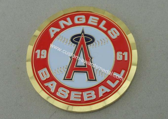 Angels Baseball Personalized Coins For Collection , 4.0 mm Thickness