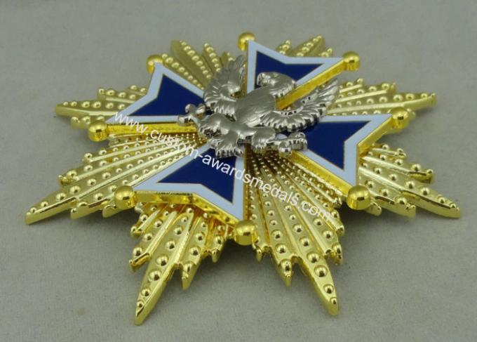 3D Zinc Alloy Die Casting Souvenir Badge 2 Pieces fixed