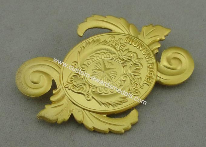 Signum Fidei Souvenir Badges By Brass Stamped 3D Misty Brooch On Back