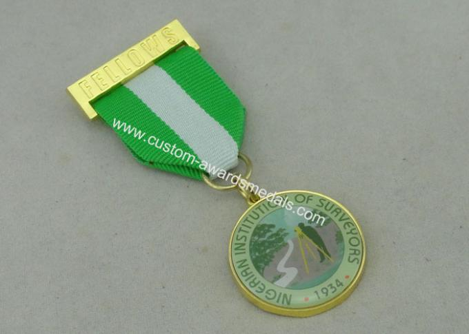 Nigerian Institution Surveyors Custom Medal Awards Zinc Alloy  / Offset Printing Piece