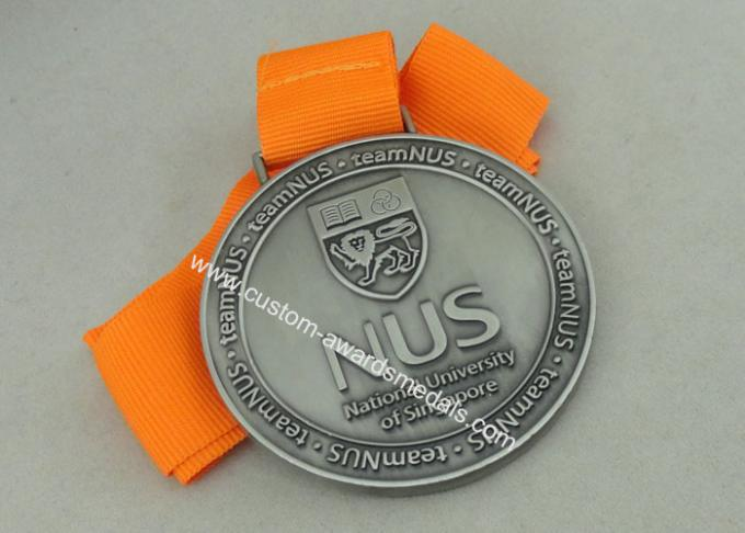 Long Ribbon National University Singapore Medals With  Zinc Alloy Die Casting