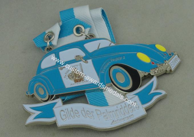 Customized Blue Ribbon Medals , Soft Enamel Zinc Alloy Deloitte Medals