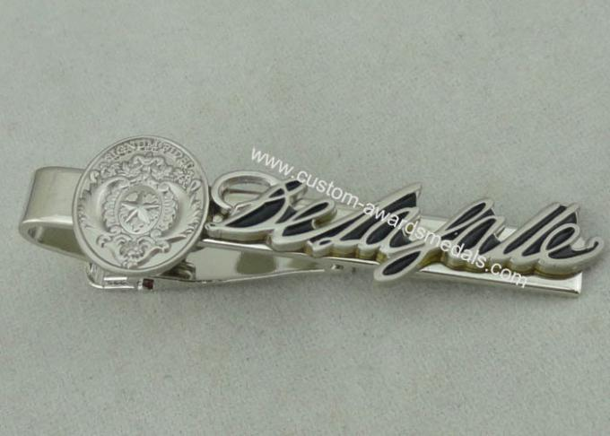 22 mm Special Cufflink Custom Tie Bars 3D Brass Stamped Silver