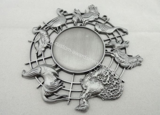 Nickel 3d Carnival Medas Zinc Alloy With Animal And Inner Cut Hole