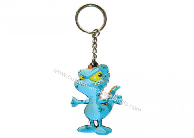 Animal Shaped 2D Soft PVC Colorful Keychain, Customized Key Chain For Souvenir