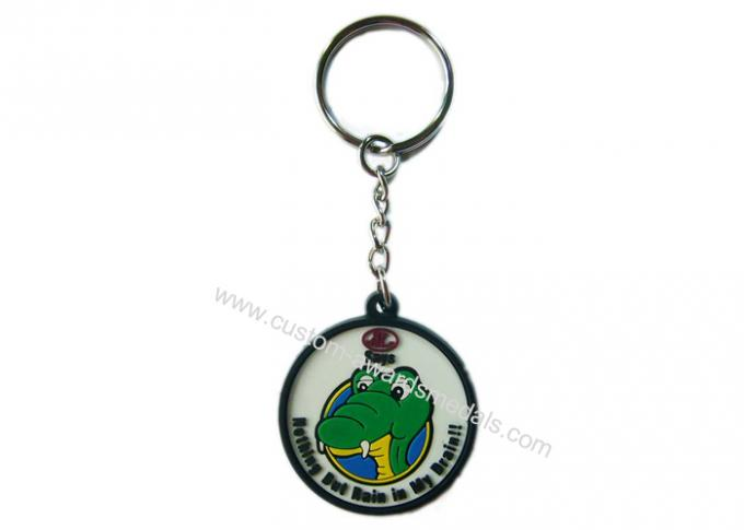 2D Custom Promotional Soft PVC Keychain / Keyring for Mobile Phone