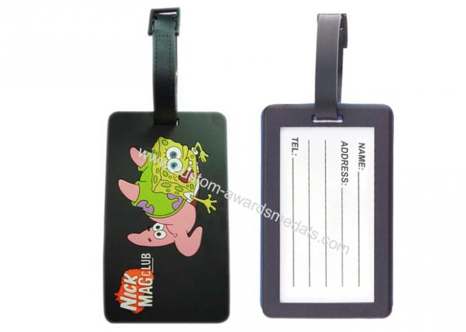 Novelty Nick Mag Club Soft Pvc Luggage Tag, Promotional Luggage Tags