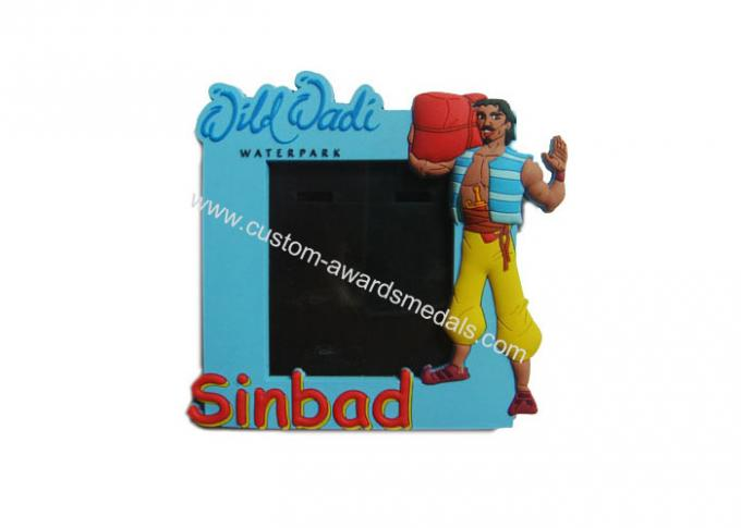 3D Sinbad Soft PVC Photo Frame, Picture Frame for Promotion Gift