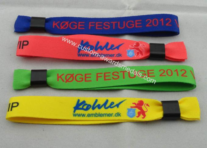 Promotional Gift Customized Cotton Woven Wrist Band For Sports