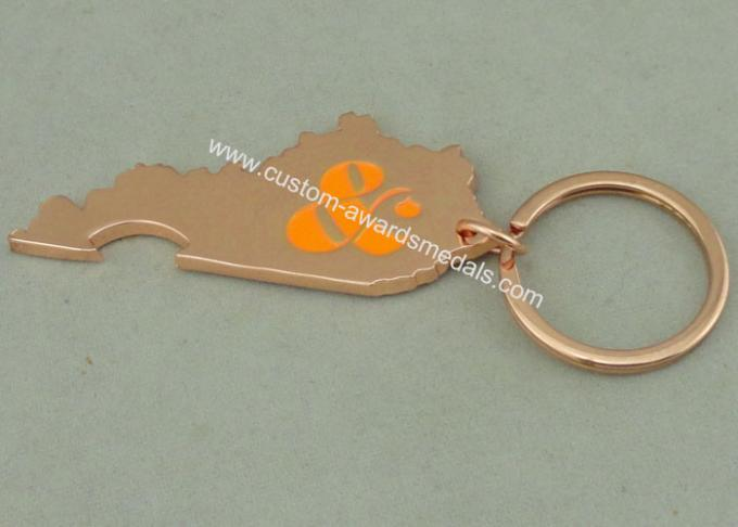 Copper Plating Logo Key Chain Advertising Keychains Zinc Alloy Bottle Opener