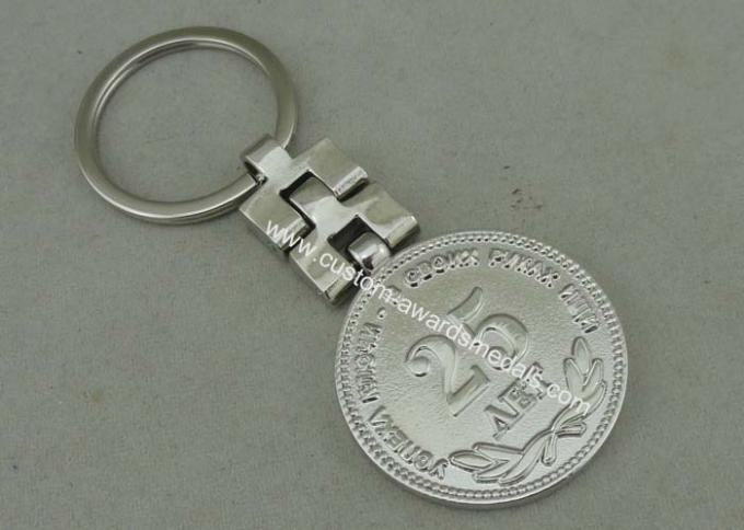 Silver Plating Promotional Key Ring 3D Die Casting Stainless Steel
