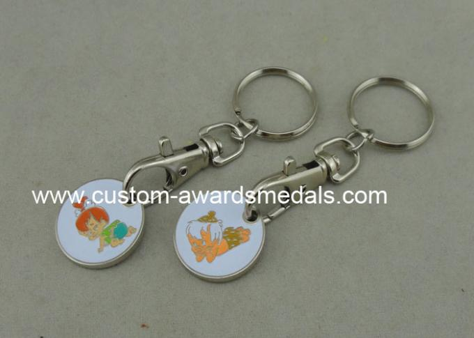 Iron Personalized Coin Flat Or Double Design Imitation Cloisonne Enamel