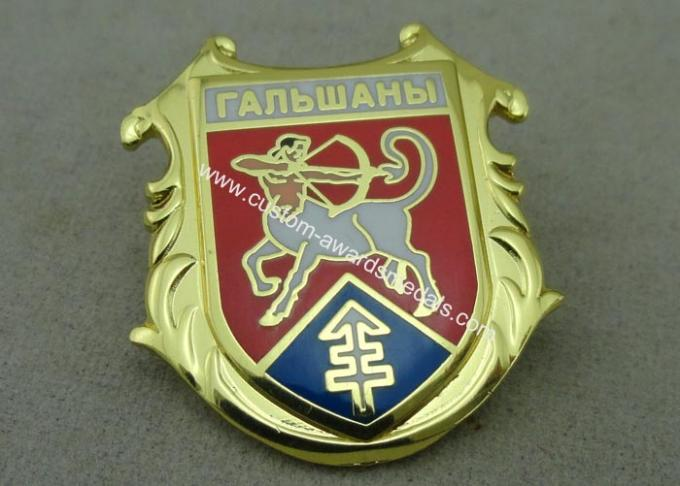 Brass Hard Enamel Army Pin Die Stamped 3D Enamel Brooch Badge Stamped