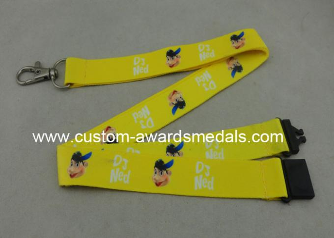 Heat Transfer Polyester Lanyards With D Hook Double Sides Printing