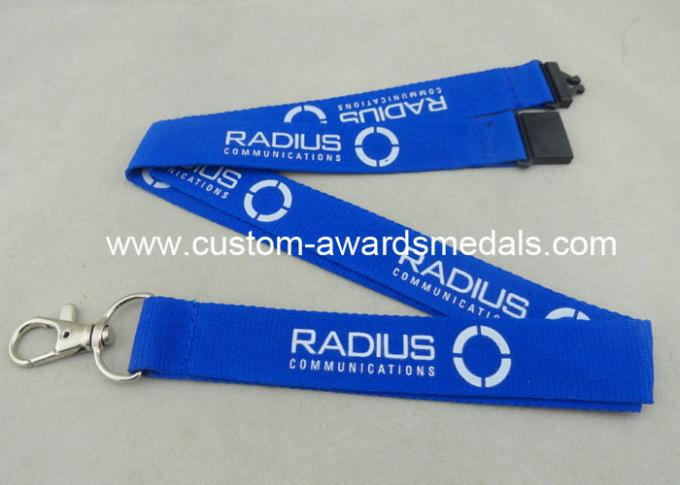 Name Badge Polyester Neck Customized Keychains With Multi Color Printing