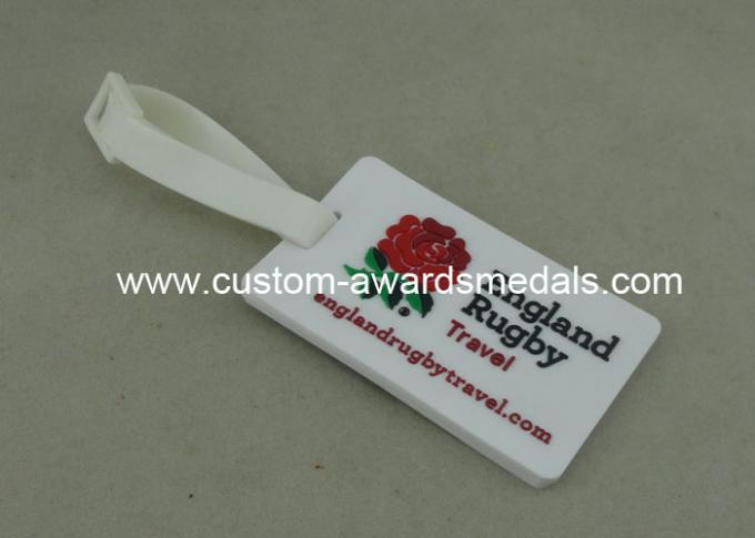 Soft PVC 2D Personalized Luggage Tag PVC Keychain ECO Friendly