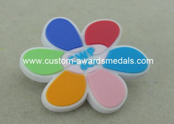 Promotional Lapel Pin Soft PVC Coaster 2D Fridge Magnet 1.0 Inch