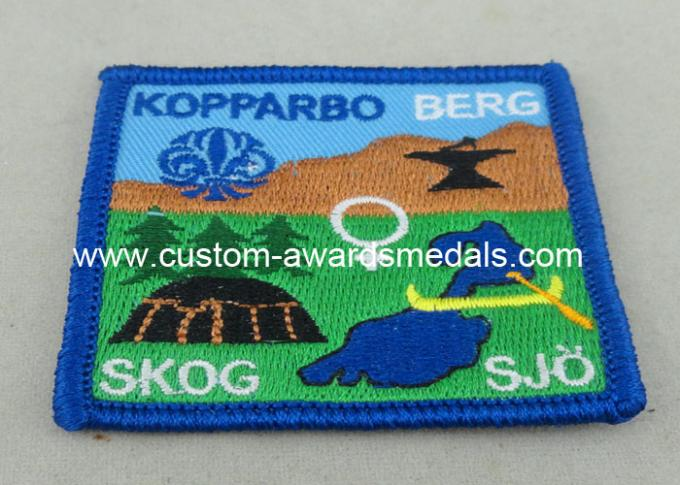Garments Custom Embroidery Patches Cap Labels Velcro Merrowed Sew On