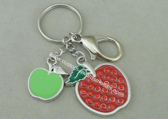 Beauty 3D Logo Promotional Key Rings Personalised With Swarovski
