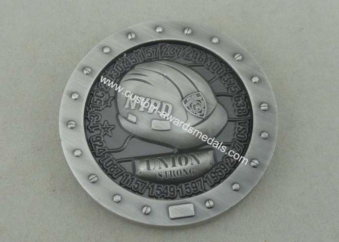 Zinc Alloy Personalized Coins Police Custom Challenge Coins By Brass Die Struck
