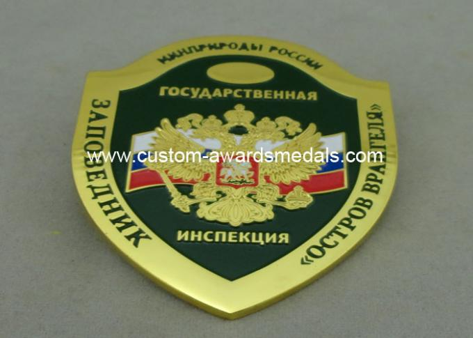 Imitation Hard Enamel Badges With Copper , Die Struck Army Customised Badges For Awards