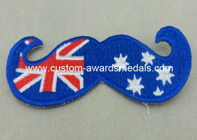 Australia Woven Custom Embroidery Patches Lapel For Business