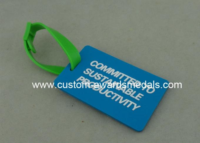 Business Promotion Promotional PVC Keyring Rubberized 4.0 Mm Thickness