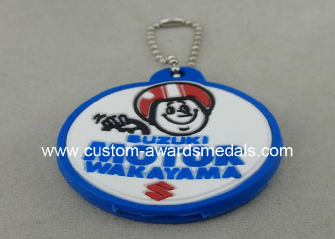 Promotional PVC Keychain , Colorful PVC Badge For Bag Zipper
