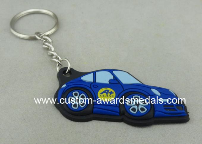 Customized Colorful PVC Keychain , 3D Soft PVC Promotional Key Tag