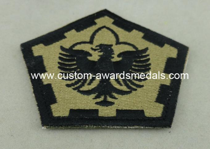 The Pentagon Clothes Patches Badges , Custom Embroidery Patches With Velcro