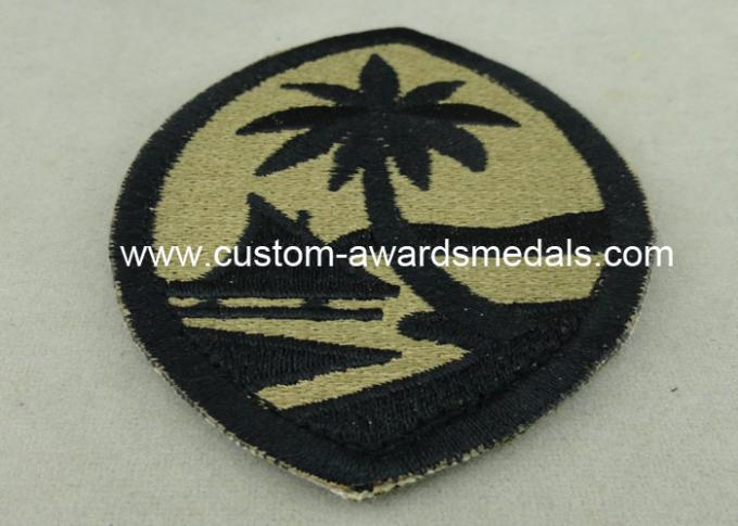 Customized Police Embroidered Badge , Patches For Uniform