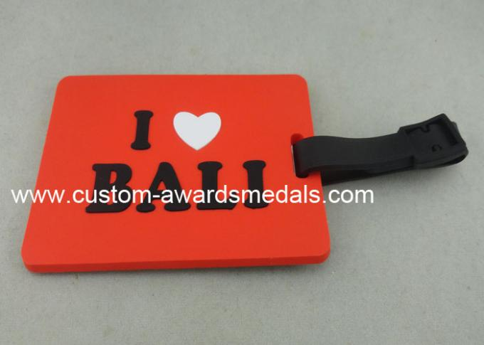 Soft PVC Rubber Silicone Leather Custom Luggage Tags Customized