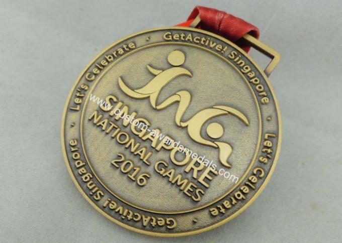Zinc Alloy Die Casting Sport Medals , Customized Running Medals By Stamping
