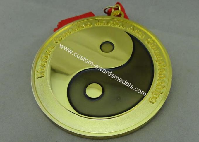 Customized Karate Medals , Judo Taekwondo Jiu - jitsu Medals , Zinc Alloy Martial Arts Medals.