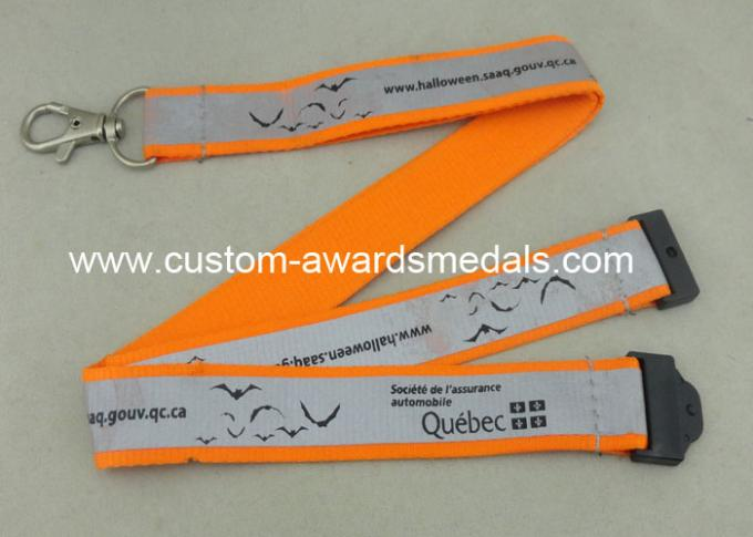 Silk Screen Printing Reflection Custom Printed Lanyards , Celebration Lanyard With Polyester Material