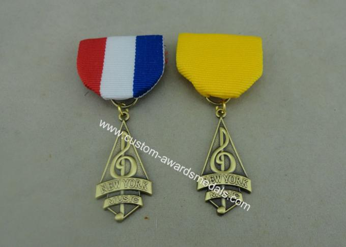 Brass Custom Awards Medals 3D Die Stamped Awards Medals 1.2 - 10mm Thickness