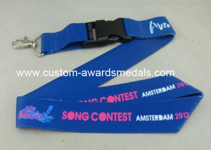 Full Color Printing Promotional Lanyards Sport Meeting Medal Ribbon / ID Neck Ribbon